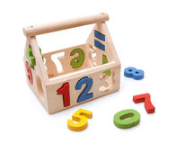 Wooden toy. On white background Stock Image