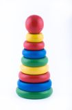 Wooden toy. On a white background Royalty Free Stock Photo