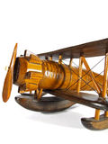 Wooden toy - airplane Stock Photos