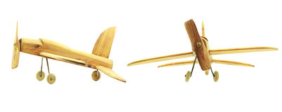 Wooden Toy Airplanes Royalty Free Stock Photo