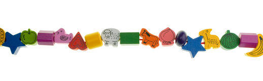 Wooden toy beads Royalty Free Stock Image