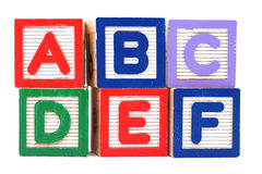 Wooden toy block Stock Images
