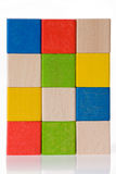 Wooden toy blocks Stock Photo