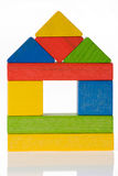 Wooden toy blocks Royalty Free Stock Images
