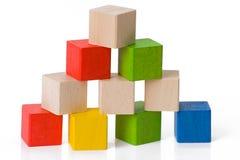 Wooden toy blocks Royalty Free Stock Photo