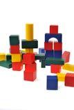 Wooden toy blocks Stock Photos