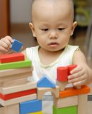 Wooden toy blocks Stock Photos