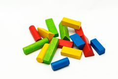 Wooden toy blocks Royalty Free Stock Photos