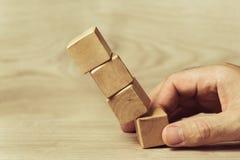 Wooden toy blocks Stock Image