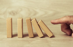 Wooden toy blocks Stock Photography