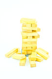 Wooden toy blocks isolated on white background Royalty Free Stock Photos