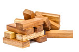Wooden toy blocks Royalty Free Stock Photography