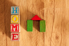Wooden Toy Blocks Spell Home Royalty Free Stock Photography