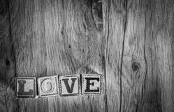 Wooden Toy Blocks Spell Love Royalty Free Stock Image