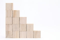 Wooden toy blocks Stock Image