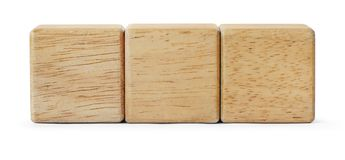 Wooden  toy blocks is on white background with clipping path. Wooden toy blocks is on white background with clipping path Royalty Free Stock Images