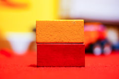 Wooden toy blocks Royalty Free Stock Image