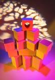 Wooden toy bricks Stock Image