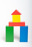 Wooden toy building blocks Royalty Free Stock Photos
