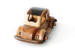 Wooden Toy Car. Authentic decorative wooden toy car Stock Images