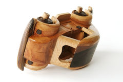 Wooden Toy Car. Authentic decorative wooden toy car Royalty Free Stock Photography
