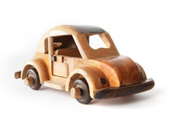 Wooden Toy Car. Authentic decorative wooden toy car Royalty Free Stock Photo