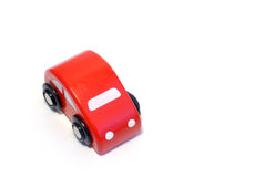 Wooden toy car. Little red wooden toy car Royalty Free Stock Photo
