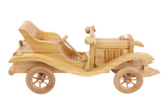 Wooden Toy Car. Isolated on white background Stock Photo