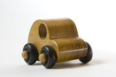 Wooden toy car Stock Image