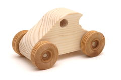 Wooden Toy Car. Isolation Royalty Free Stock Image