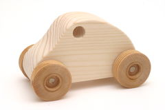 Wooden Toy Car. Isolation Royalty Free Stock Photos