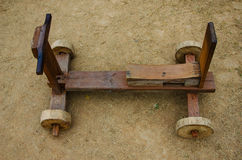 Wooden toy car Royalty Free Stock Photos