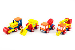 Wooden toy car. Brain development, Skills Preschool Royalty Free Stock Photo
