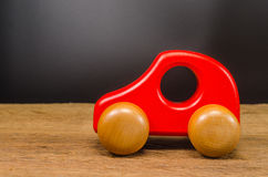 Wooden toy car. Concept of time to travel Royalty Free Stock Images