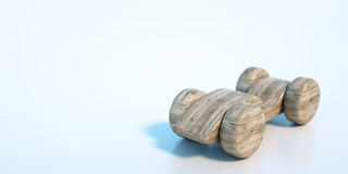 Wooden toy car. 3d rendering Royalty Free Stock Photo
