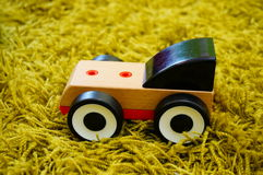 Wooden toy car Royalty Free Stock Image
