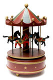 Wooden toy carousel. On a white background Royalty Free Stock Photo