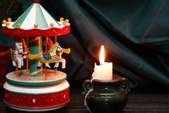 Wooden Toy Carousel Stock Image
