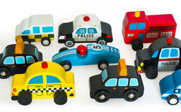 Wooden toy cars Stock Photos