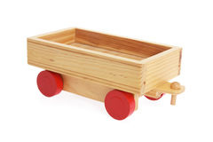 Wooden Toy Cart Royalty Free Stock Photography
