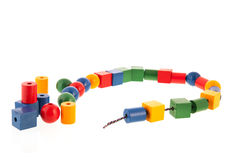 Wooden toy chain Royalty Free Stock Photos