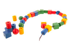Wooden toy chain Royalty Free Stock Images