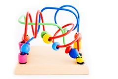 Wooden toy for children royalty free stock images