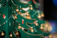 Wooden toy christmas tree decoration Stock Photography