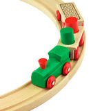 Wooden toy colorful train Stock Image