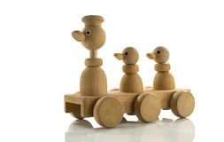 Wooden toy duck car Stock Image