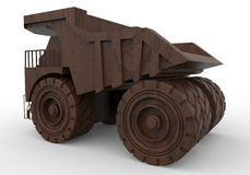 Wooden toy dump truck Stock Photos