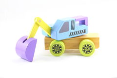 Wooden Toy Excavator Stock Photos
