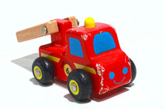 Wooden Toy Fire Truck Royalty Free Stock Photos