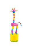 Wooden toy giraffe Stock Image